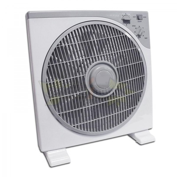Ventilateur oscillant 30cm carr box fan brasseur d 39 air - Ventilateur chambre de culture ...